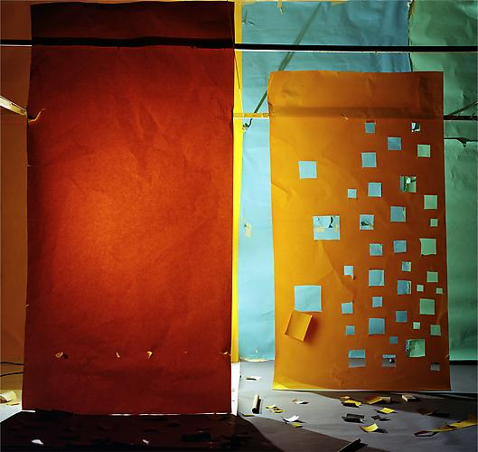 "No.629, 2006 ""Yellow Lit from Behind and Yellow with Holes to Blue"" Edition of 3, 65 x 68 in. (165 x 172 cm.) 2 AP, 40 x 42 in. (101 x 106 cm.) Color Photograph"