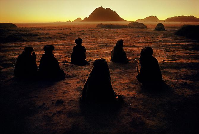 Kuchi Nomads Facing Mecca, Kandahar, Afghanistan