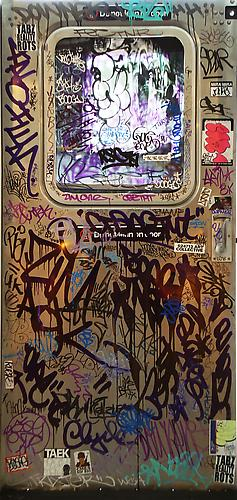 Various Artist, MTA Subway Door, 2010. Polished Steel Door, 75 x 36 x 1 1/4 inches.