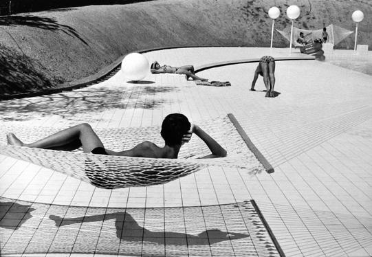 Swimming Pool Designed by Alain Capeilleres, Le Brusc, Var, France 1976 gelatin silver print