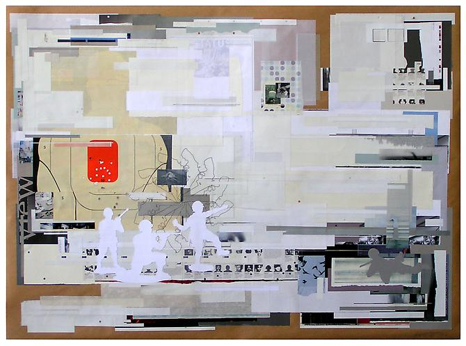 Senseless Games, 2010 paper on paper 60 x40 inches