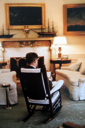 President John F. Kennedy in the Oval Office 1961 chromogenic print