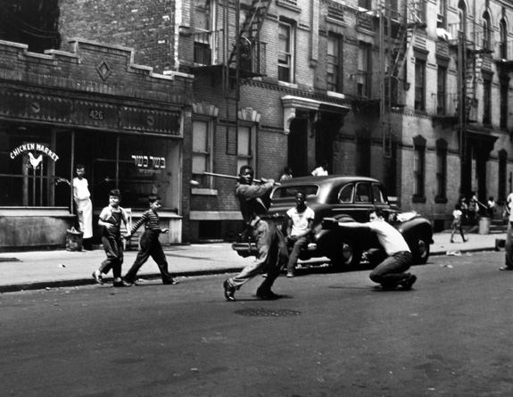 Stickball, New York City 1950 gelatin silver print