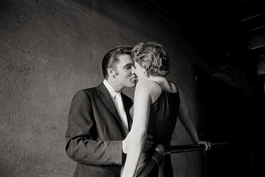 Alfred Wertheimer, The Kiss, Elvis and his date backstage of the Mosque Theatre, Richmond, Virginia June 30th, 1956