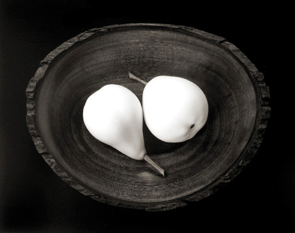 Two Pears, Cushing, Maine 1999 gelatin silver print