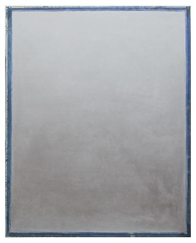 Ryan Wallace, Tablet (Silver) (2012) Oil, enamel, acrylic, crystalina, Mylar on canvas 60h x 48w in (152.4h x 121.92w cm)