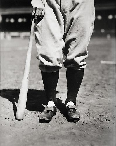 Lou Gehrig's Legs not dated gelatin silver print