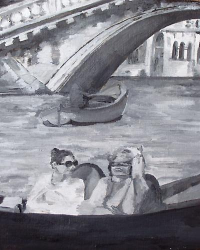 Faded Romance, Honeymoon in Venice 1971, 2009 Oil on panel 8 x 10 inches