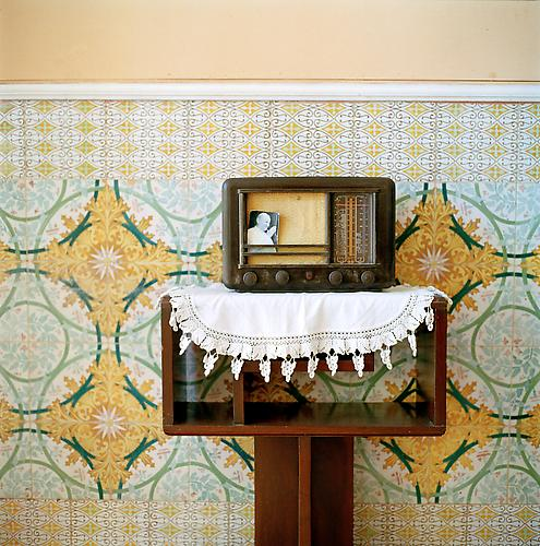 OLGA CHAGAOUTDINOVA | POPE ON THE RADIO | C-PRINT | 61 x 61 CENTIMETERS | 2007