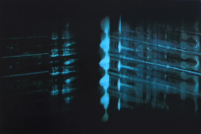 SiO2, Al, 2010.  Oil on linen, 28 x 42 inches.