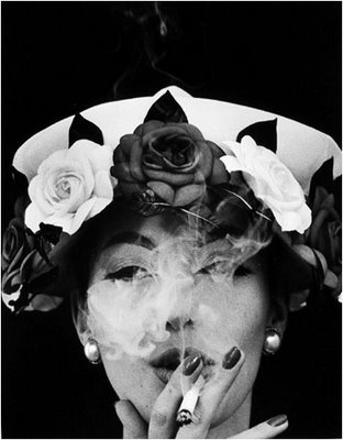Hat & 5 Roses, Paris [VOGUE] 1956 gelatin silver print