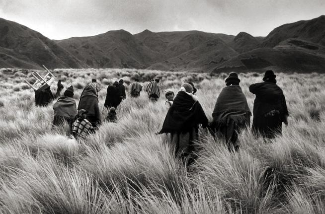 Meeting of a Religious Community, Road to Attilo, Chimborazo, Ecuador 1982 Gelatin Silver Print