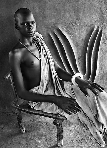 Dinka Girl, South Sudan 2006 gelatin silver print