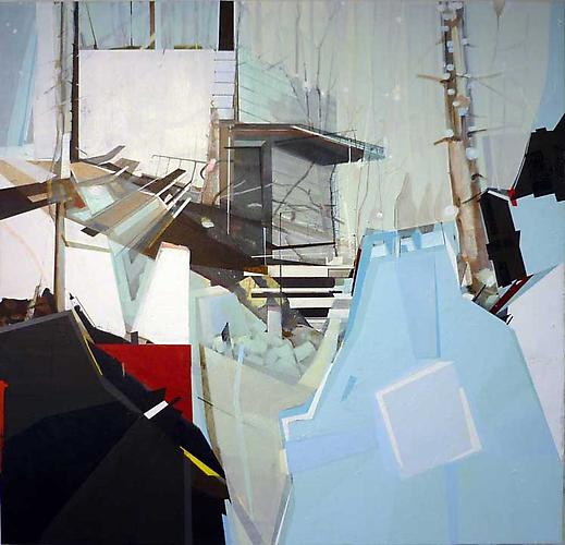Lost Edge 27,2009. Acrylic on Canvas, 46 x 48 inches.