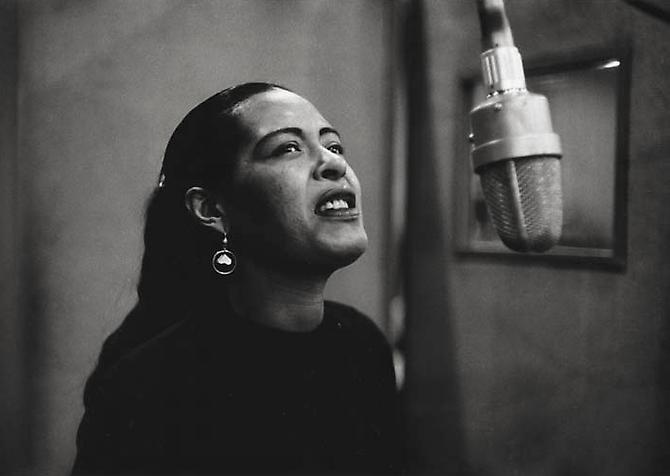 Billie Holiday, New York City,  December 1957 gelatin silver print