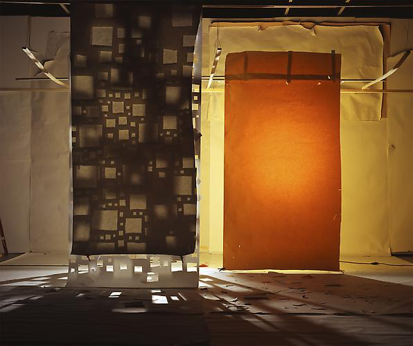 "No. 800, 2009 ""White with Holes Masked by White and Yellow Lit from Behind"",Edition of 3,  72 x 86"" in. (182x218 cm.), 2 AP, 40x47.5 in. (101x120 cm.), Color Photograph"