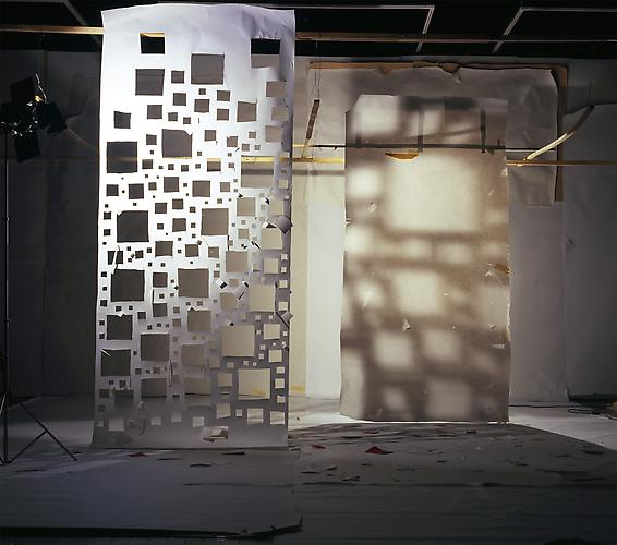 "No.805, 2009 ""White with Holes Lit from Front and White Lit from the Back with Shaddows from Other White"" Edition of 3, 72 x 81 in. (182 x 205 cm.), 2 AP, 40 x 45 in. (101 x 114 cm.) Color Photograph"
