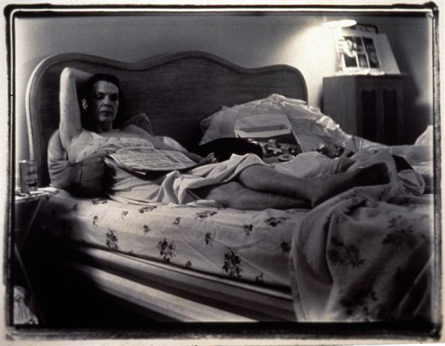 """Mom in Bed"", 1969 - 1995 40 x 30 inches black and white photograph"