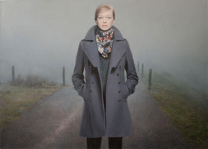 Fog, 2009 Oil on linen 30.3 x 21.6 in.