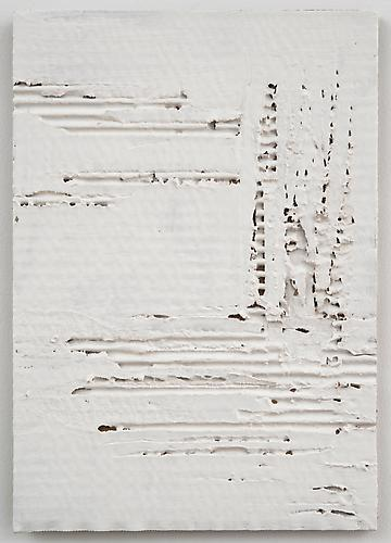 Nancy Lorenz, Untitled Cardboard V (2013) Gesso And Cardboard 11.5h x 7.5w in (29.21h x 19.05w cm)