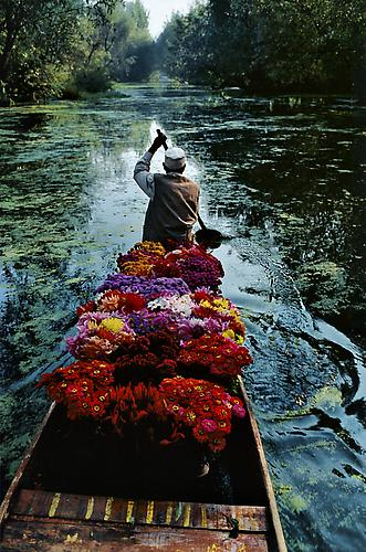 Flower Seller, Dal Lake, Kashmir 1996 C-type print on Fuji Crystal Archive paper