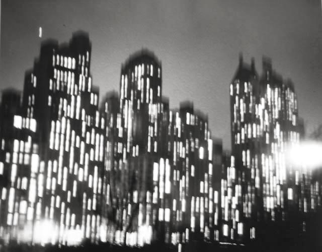 Central Park South 1948 printed later gelatin silver print
