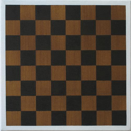 Untitled (Board) , 2009 Oil on linen 12 x 12 inches