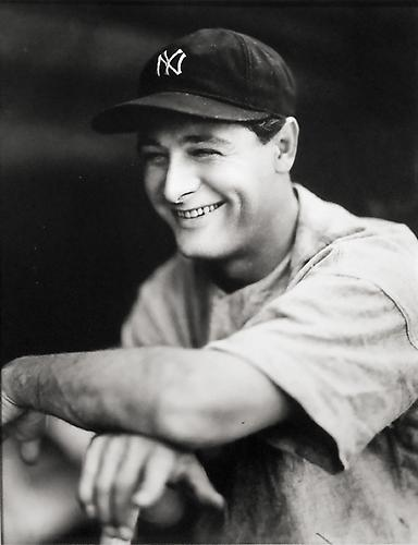 Lou Gehrig Portrait not dated gelatin silver print