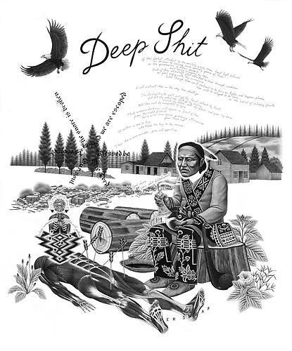 Eric Beltz, Deep Shit (2009) Graphite On Bristol 29h x 23w in (73.66h x 58.42w cm)