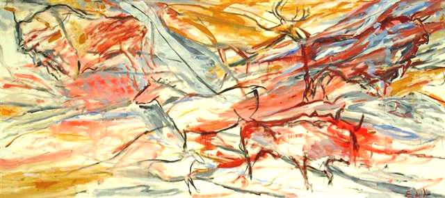 Sirocco Wall,1987 Acrylic on canvas	 48 x 108 inches (121.92 x 274.32 cm)		 Signed lower right; titled and dated reverse DEKO_E_085