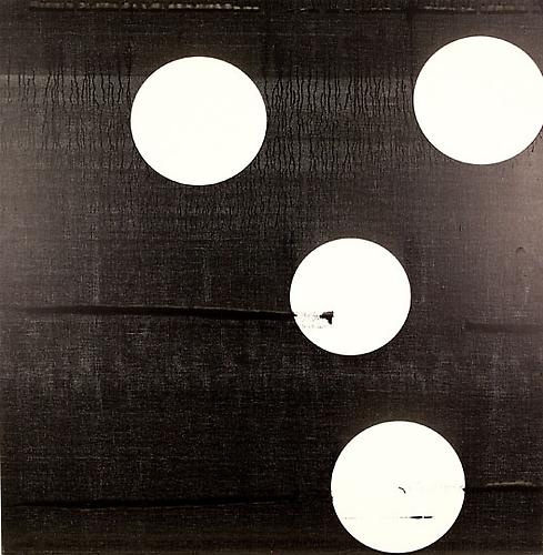 Untitled (B&W Circles), 2005 Epson Ultrachrome ink on linen 40 x 38 in.