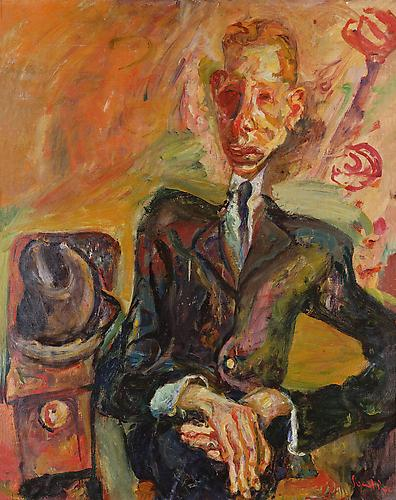 Chaim Soutine,  Portrait of a Man with a Felt Hat , c. 1921–22