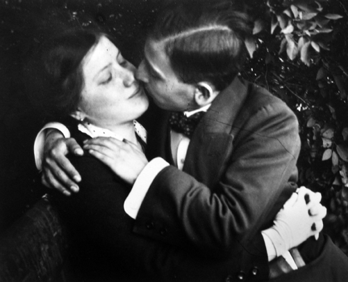 Lovers 1915 printed later gelatin silver print