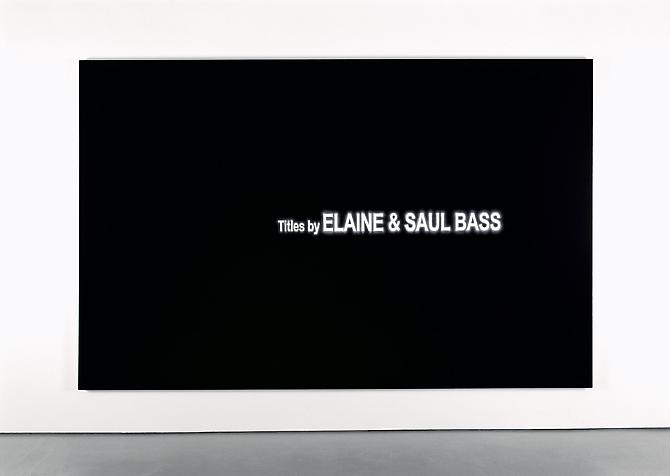 Black-List: Elaine & Saul Bass, 2006 Acrylic on linen 77 x 120 in.