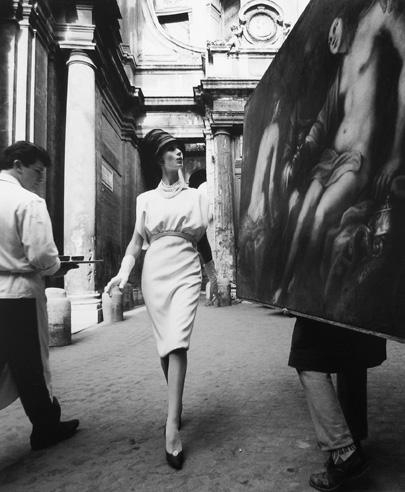 Simone, Painting, Coffee, Rome 1960 printed later gelatin silver print