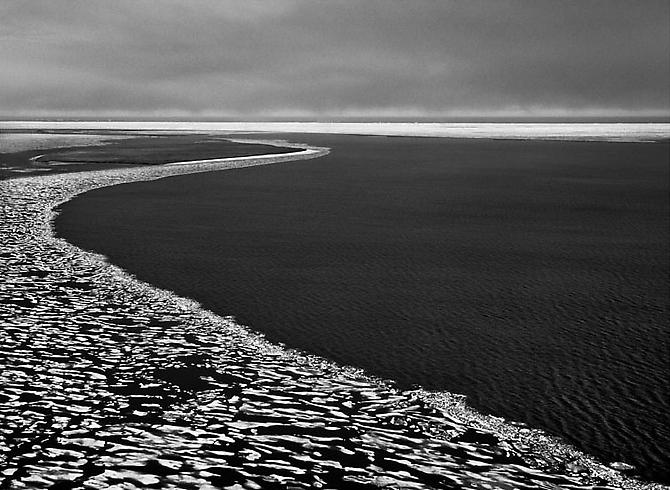 The Arctic Ocean Around the Inupiat Village of Kaktovik 2009 gelatin silver print