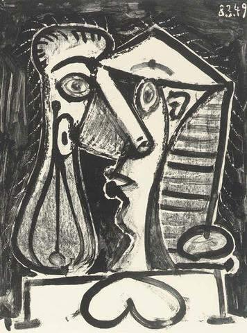 Composed Figure II (M. 166; B. 597) ,  25 7/8 x 19 5/8 inches (65.6 x 49.7 cm), Lithograph on Arches paper, 1949
