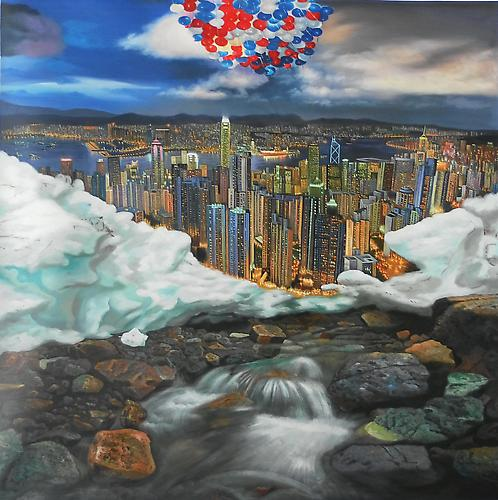 Shay Kun Reincarnation, 2011. Oil on canvas, 60 x 60 inches.