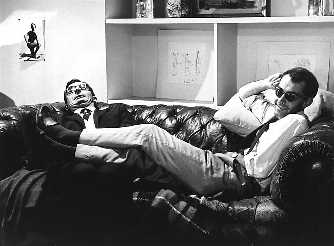 """Technical Counselor"" work session with Godard and Claude Charbol (A Bout De Souffle) 1959  gelatin silver print"