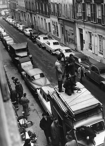 Francois Truffaut on the roof of a van, rue Lemercier, Paris (Antoine Et Colette) 1962 gelatin silver print