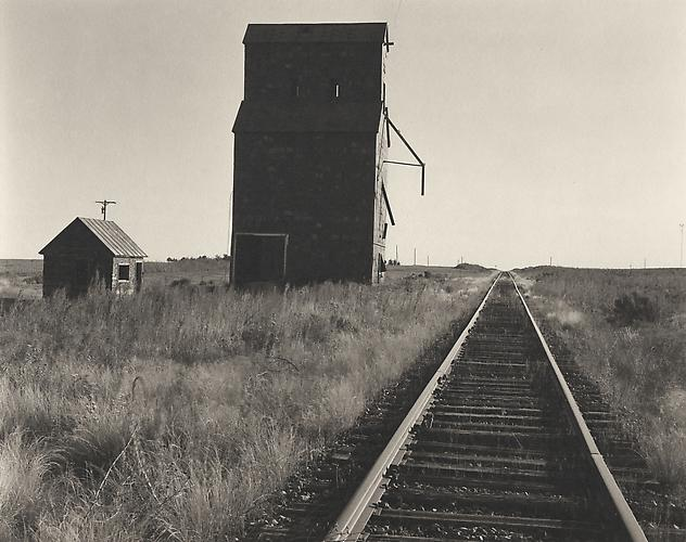Old Grain Elevator & PR Tracks-Elkhart, Kansas 2001 Platinum Palladium