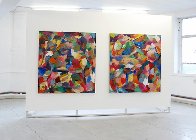 Installation View, 'Progress Pleas', Paintings A,S, HOTEL, June 2012