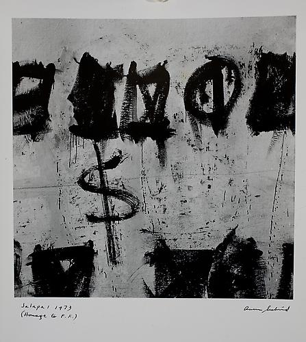 Aaron Siskind  Jalapa 1 (Homage to Franz Kline) , 1973 photograph, 14 x 11 inches Listing #6
