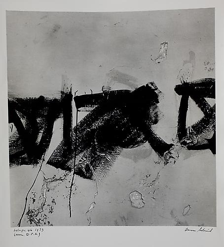 Aaron Siskind  Jalapa 46 (Homage to Franz Kline) , 1973 photograph, 10 x 9.5 inches Listing #5