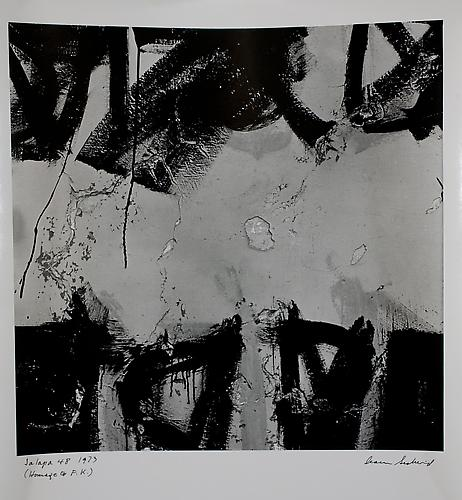 Aaron Siskind  Jlapa 48 , 1973 photograph, 9.5 x 9.63 inches Listing #4