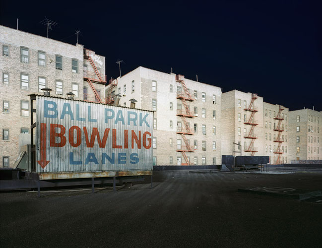 David S. Allee, Ball Park Bowling, Bronx, NY, ed. 12, 2002 Chromogenic Print 40 x 50 in (101.6 x 127 cm)
