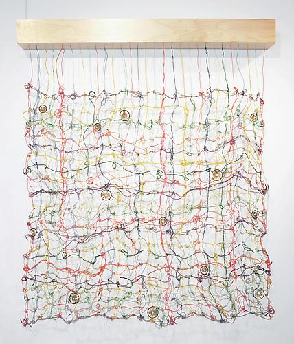 Alma's Blanket (Israel Museum) , 2011-2012, wire, audio speakers, electronics, wood, original soundtrack, 70 x 60 x 7 inches