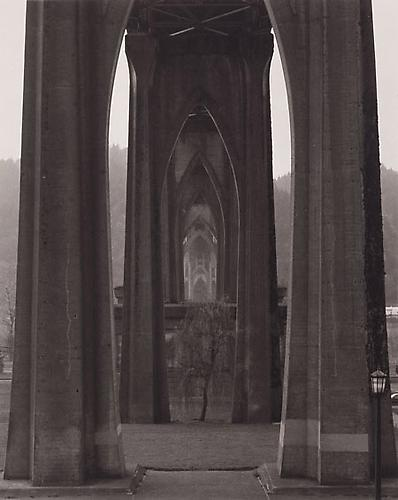 Under the St. John Bridge, Portland, Oregon 1999 Platinum Palladium