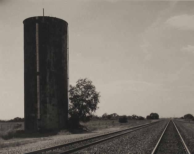 Rusted Water Tower & RR Tracks-Melrose, New Mexico 2005 Platinum/palladium print