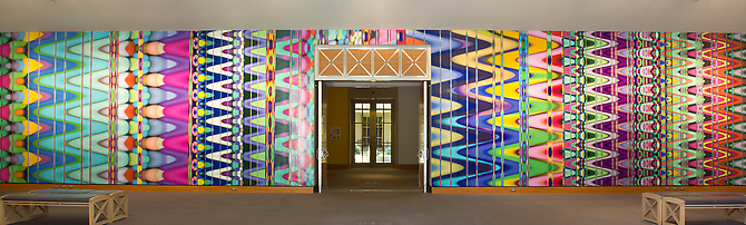 Vibrating Strands of Energy, 2011 Vinyl 156 x 672 inches Installation view Norton Museum of Art, West Palm Beach